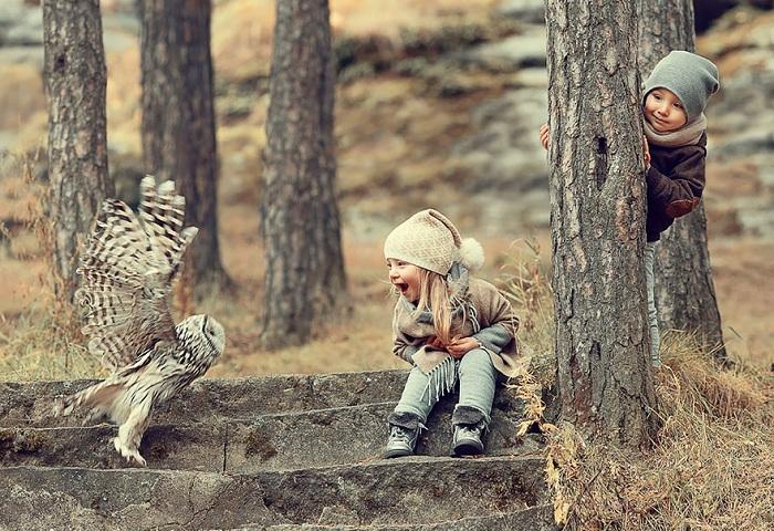 с детьми и животными
