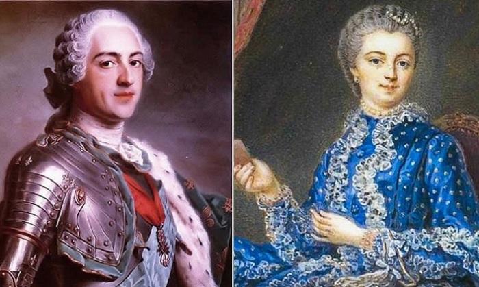 Король Франции Людовик XV и его фаворитка маркиза де Помпадур.