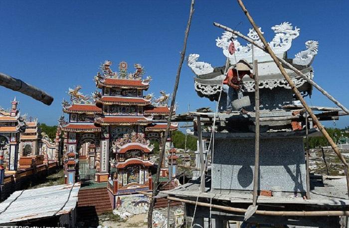 Строительство одной усыпальницы обходится в 70 тысяч долларов.   Фото: todaytv.vn.
