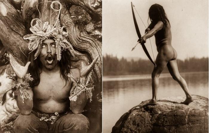 Ретро-снимки жизни североамериканских индейцев начала 20 века.