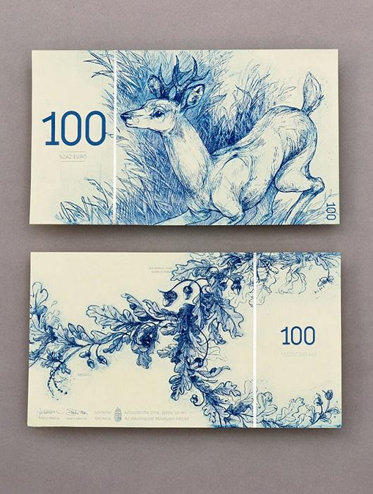 Красивая 100-евровая купюра от Barbara Bernat.
