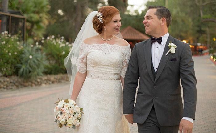 Жених и невеста поженились только после похудения.