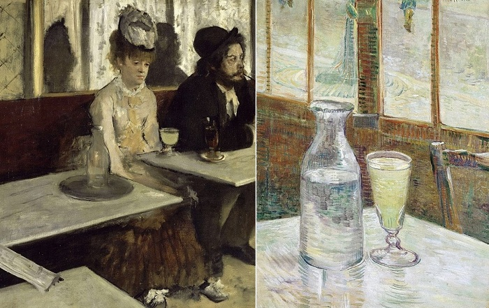 Абсент - самый популярный алкогольный напиток во Франции второй половины XIX века.