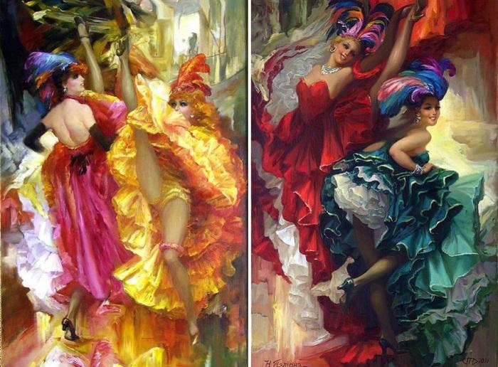 Танцовщицы канкана. Худ. Н. Папирна, 2011 год.