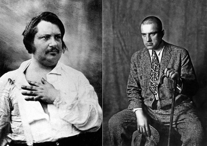 Оноре де Бальзак и Владимир Маяковский.
