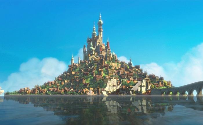 Замок из мультфильма «Рапунцель: запутанная история».