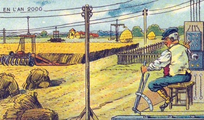 Машина, убирающая урожай. | Фото: boredpanda.com.