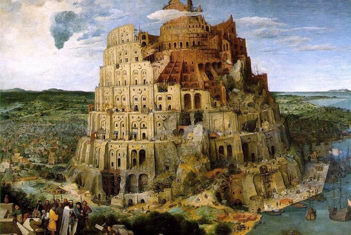 Вавилонская башня. Питер Брейгель Старший, 1563 год. | Фото: art-diplom.narod.ru.