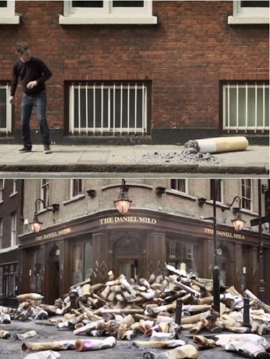 Проблема загрязнения улиц сигаретными окурками.