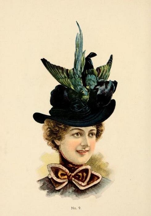 Шляпы больших размеров были популярными <br>в начале ХХ века.