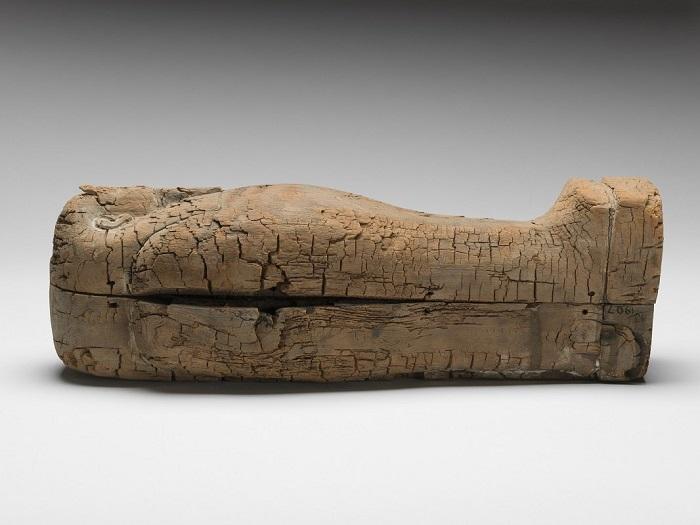 Саркофаг с самой маленькой мумией в мире. | Фото: best-info.com.ua.