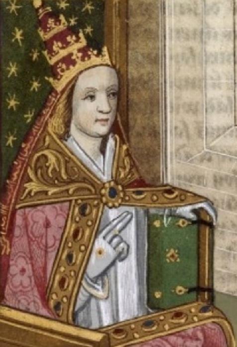 Картина с изображением Иоанны в папской тиаре. Около 1560 г.