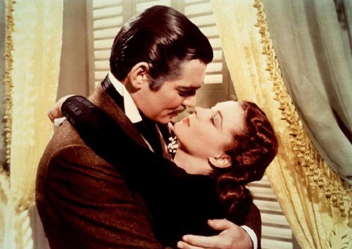 Во время съемок Вмвьен Ли ненавидела целоваться с Кларком Гейблом.   Фото: izuminki.com.