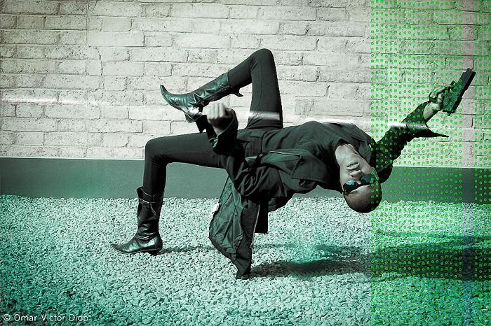 «Матрица». Сцена с участием африканской модели.