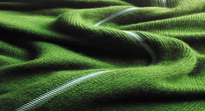 «Ландшафт» из лоскута ткани от Карла Уорнера.