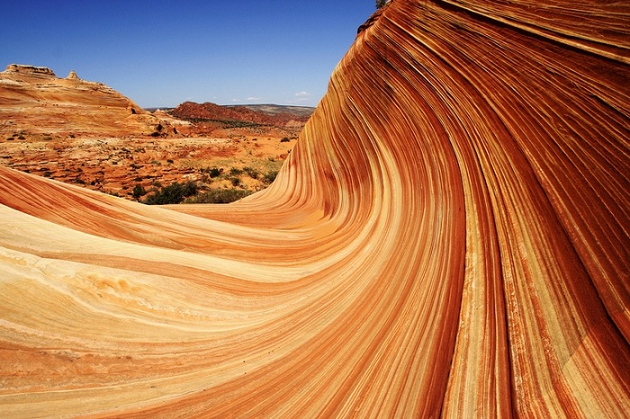 Песчаные склоны Аризоны (США).