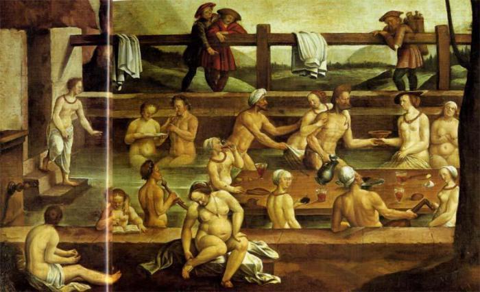 В Средневековье были популярными общественные бани. | Фото: menstois.ru.