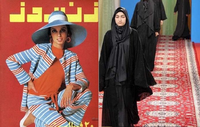 Как менялась мода иранских женщин.
