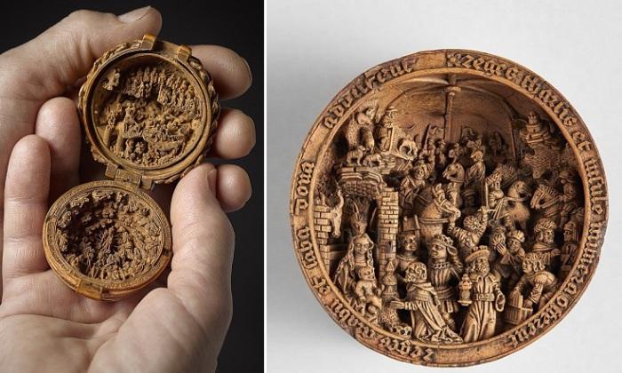 Молитвенные «орехи» - миниатюры на религиозные темы XVI века.