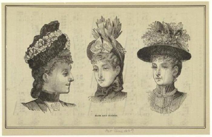 Шляпы, популярные во второй половине XIX века. | Фото: wiki.wildberries.ru.