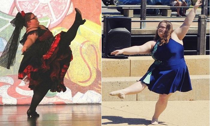 Lizzy Howell - 15-летняя балерина с лишним весом.