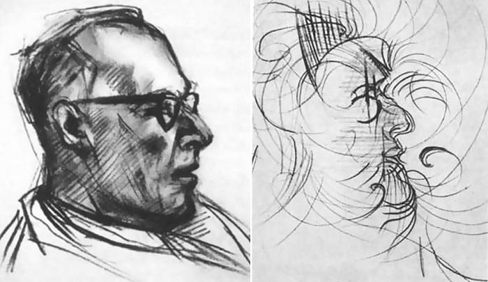 Портреты одного человека, написанные под воздействием ЛСД через 20 минут и через 5 часов 45 минут.