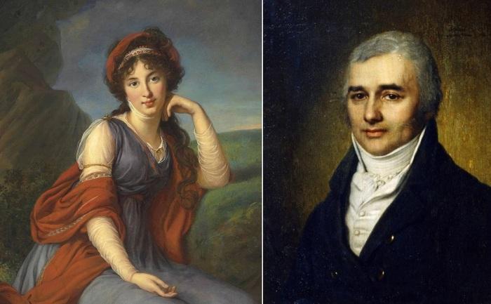 М. Г. Разумовская (Голицына) и Л. К. Разумовский.