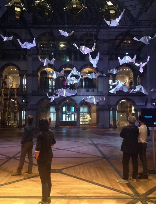 Выставка оригами в музее Tropenmuseum.