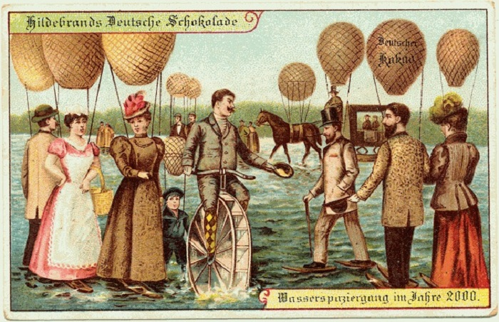 Представления о будущем людей в 1900 году. Прогулки по воде.