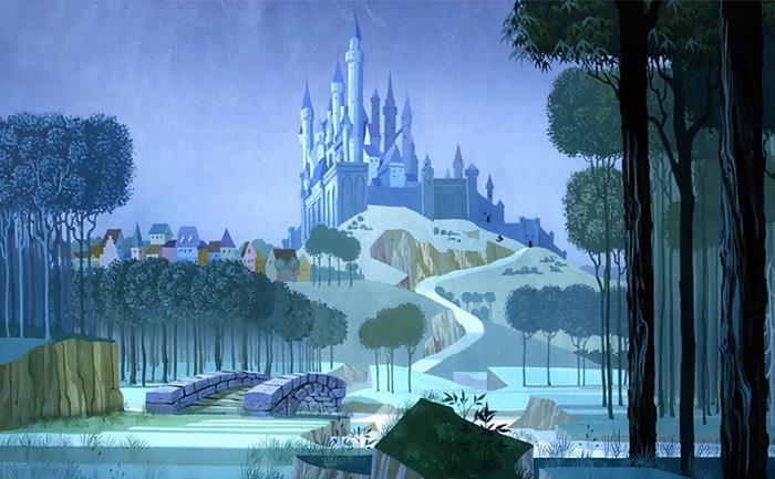 Замок Спящей красавицы из мультфильма Диснея.