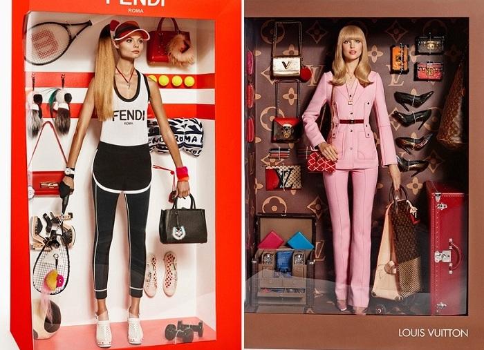 Модели в роли кукол барби.