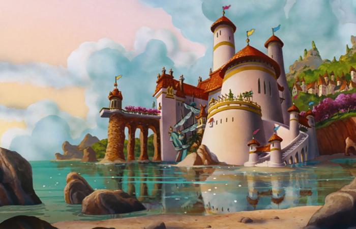 Замок принца Эрика из м/ф «Русалочка».