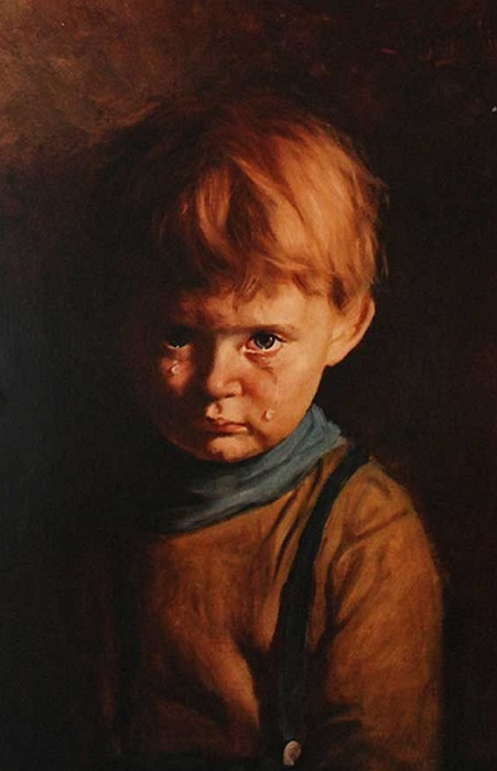 Плачущий мальчик. Джованни Браголин, 1950-е гг. | Фото: otvet.imgsmail.ru.