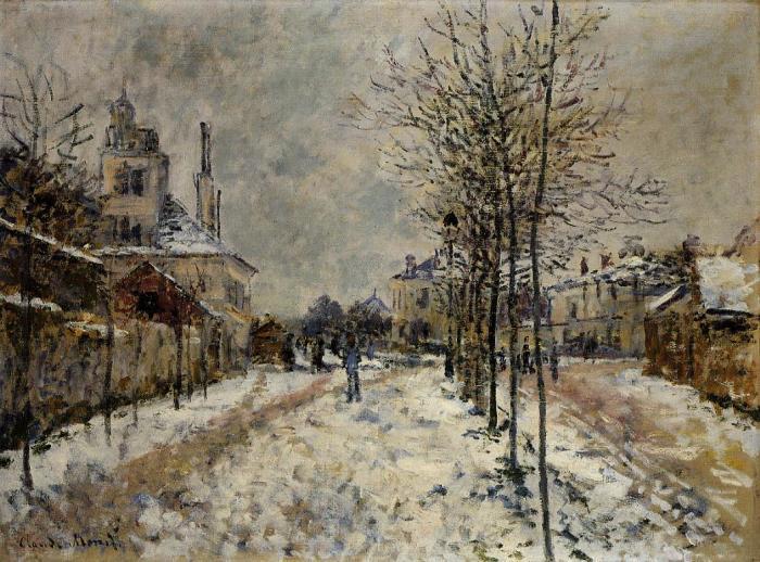 Бульвар де Понтуаз в Аржантее. Клод Моне, 1875 год. | Фото: fiveminutehistory.com.