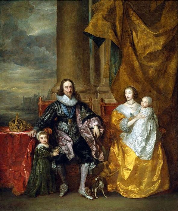 Карл I и Генриетта Мария с сыновьями Карлом и Яковом.   Фото: filed7-20.my.mail.ru.