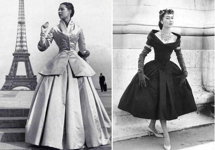 Широкие юбки от Christian Dior.