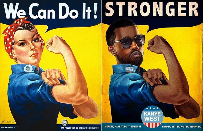 Винтажные плакаты с изображением поп-звезд.