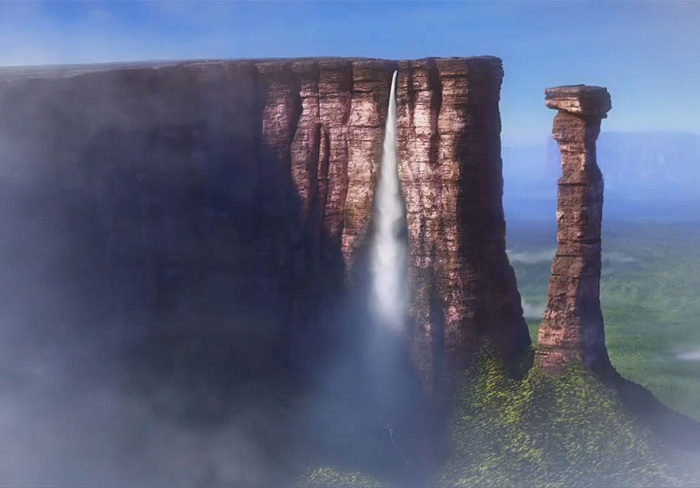 Райский водопад из мультфильма «Вверх».