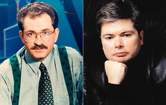 Слева: Влад Листьев, справа: Артем Боровик.