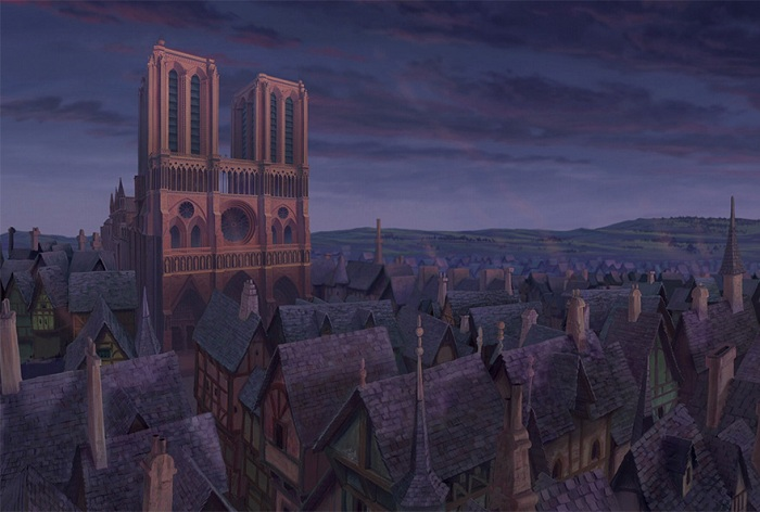 Мультяшная копия собора Парижской Богоматери.