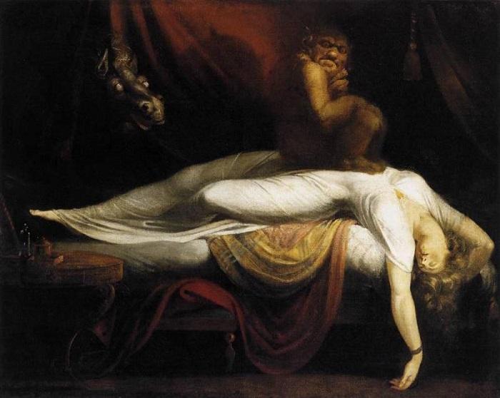 Ночной кошмар. Генрих Фюссли, 1781 год.