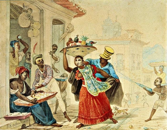 Карнавал в Бразилии в 17 веке.