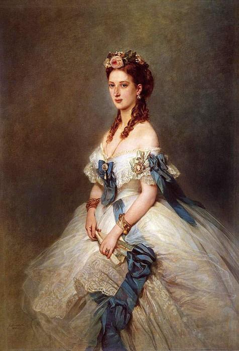 Портрет Александры, принцессы Уэльской. Ф. Винтерхальтер, 1864 год.