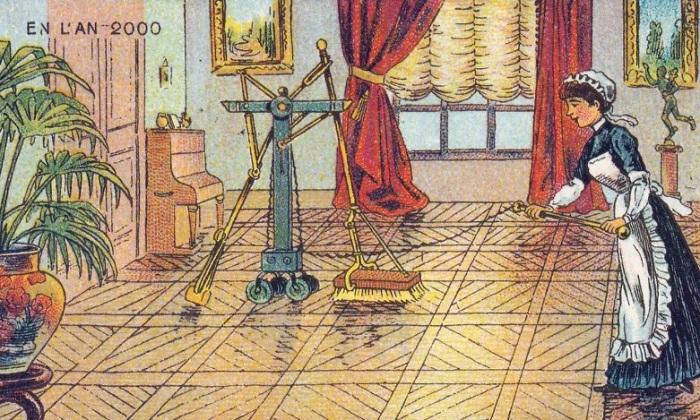 Какой в 1900 году представляли жизнь в XXI веке. | Фото: boredpanda.com.