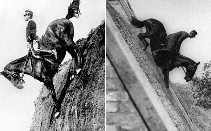 Невероятное мастерство кавалеристов начала 20 века.