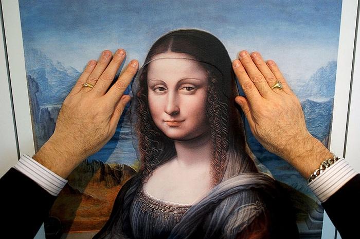 Мона Лиза, распечатанная на 3D- принтере.