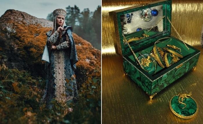 Хозяйка Медной горы. Фото: Настя Никитина. Малахитовая шкатулка.