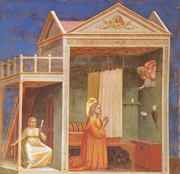 Благовещение святой Анне. 1303-1305 гг. Капелла Скровеньи в Падуе. Джотто. | Фото: cruelclimate.net.