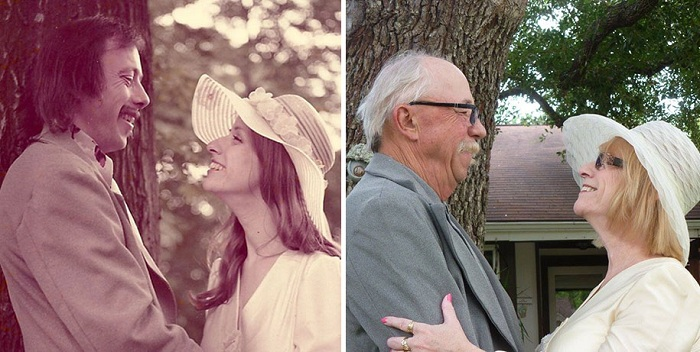 40-летний юбилей свадьбы. Фото тогда и сейчас.