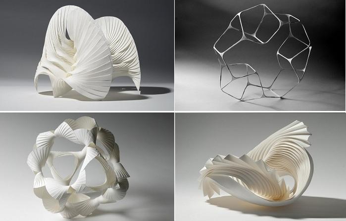 Трехмерные фигуры из бумаги.